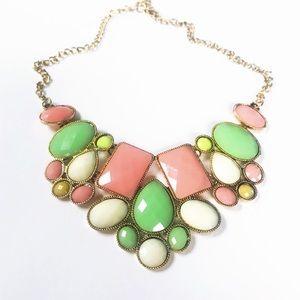 Jewelry - 𝕙𝕡! Colorful Pastel Choker Statement Necklace